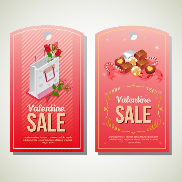 Valentine sale tag template Vector Premium Download - sale tag template