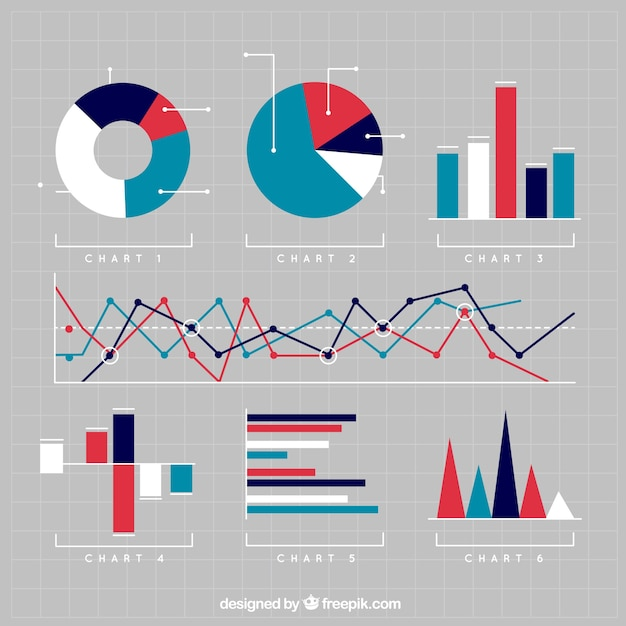Variety of charts Vector Free Download