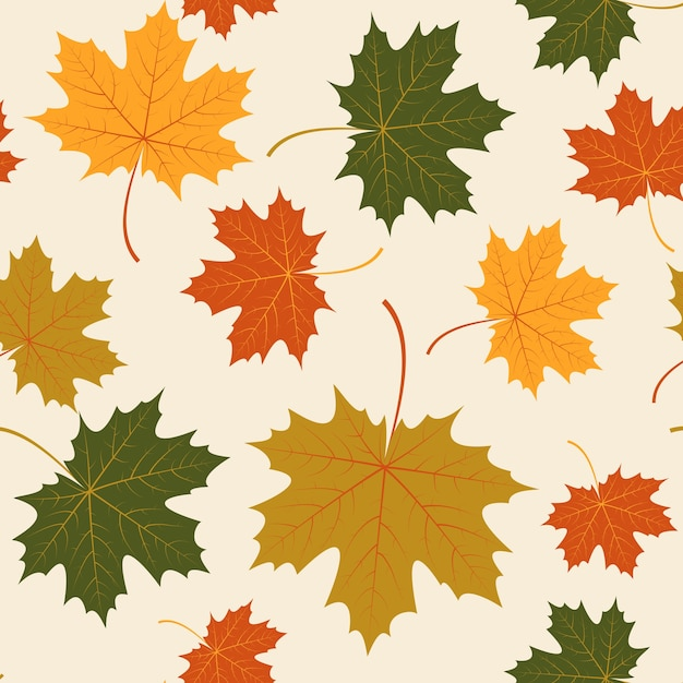 Fall Colors Wallpaper Background Vector Seamless With Autumn Maple Leaves Vector Free