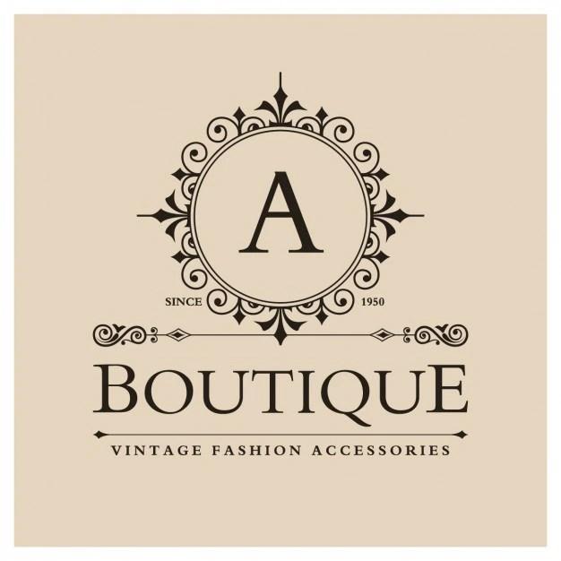 Vintage Boutique Logo Vector Free Download