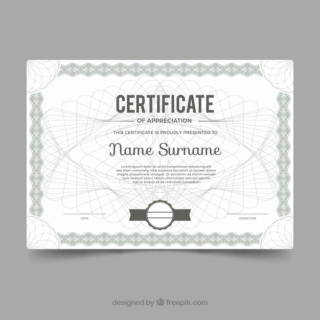 Vintage certificate border template Vector Free Download