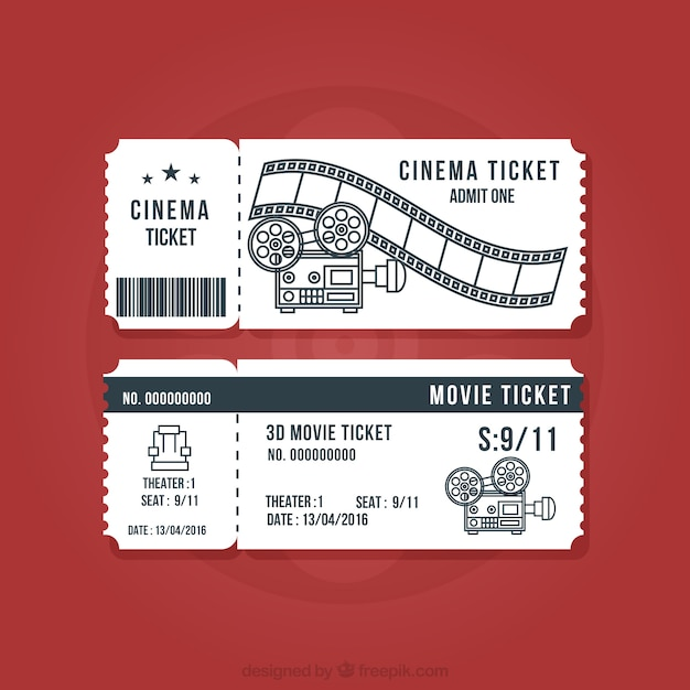 Ticket Vectors, Photos and PSD files Free Download - movie theater ticket template