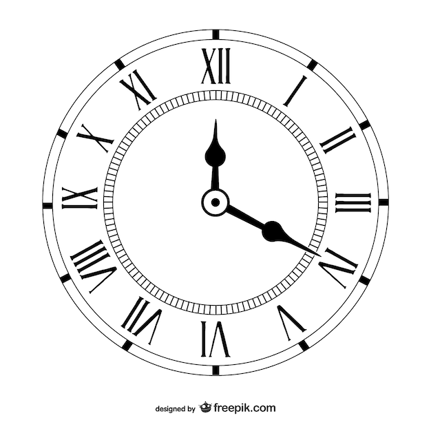 Vintage clock Vector Free Download