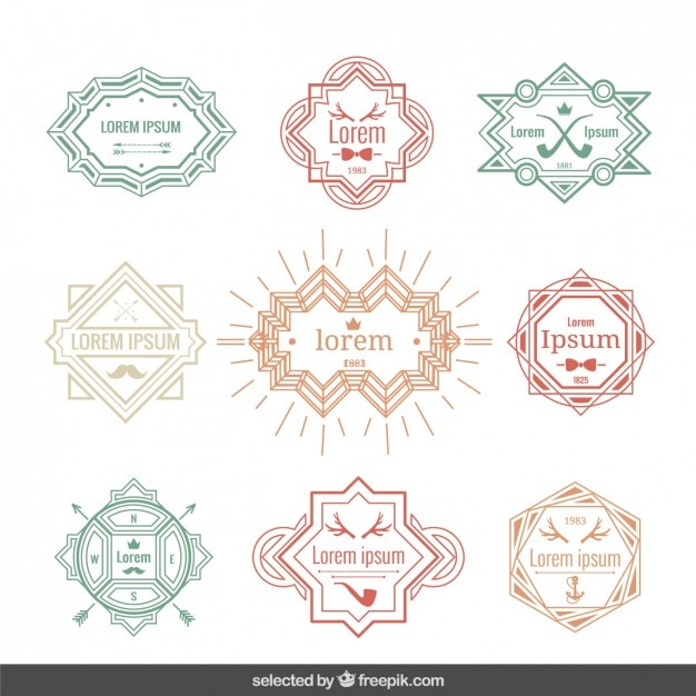 Vintage labels template Vector Free Download