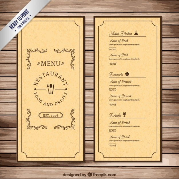 drink menu template free - Goalgoodwinmetals - Free Drink Menu Template