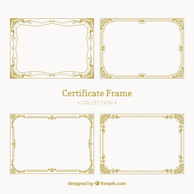 Certificate Border Vectors, Photos and PSD files Free Download