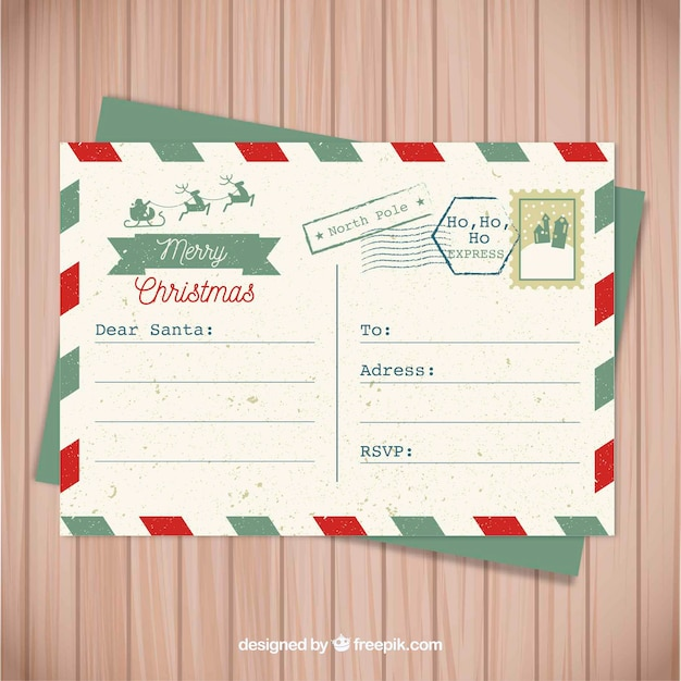 free santa postcard - Towerssconstruction