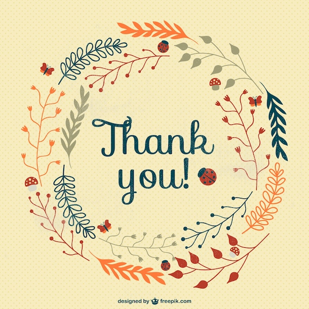 Vintage thank you card Vector Free Download - free thank you card template