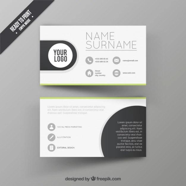 Visit card design template Vector Free Download - card design template