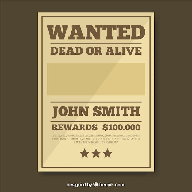 Wanted reward poster template – Wanted Poster Examples