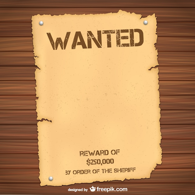 Wanted poster template Vector Free Download - most wanted posters templates