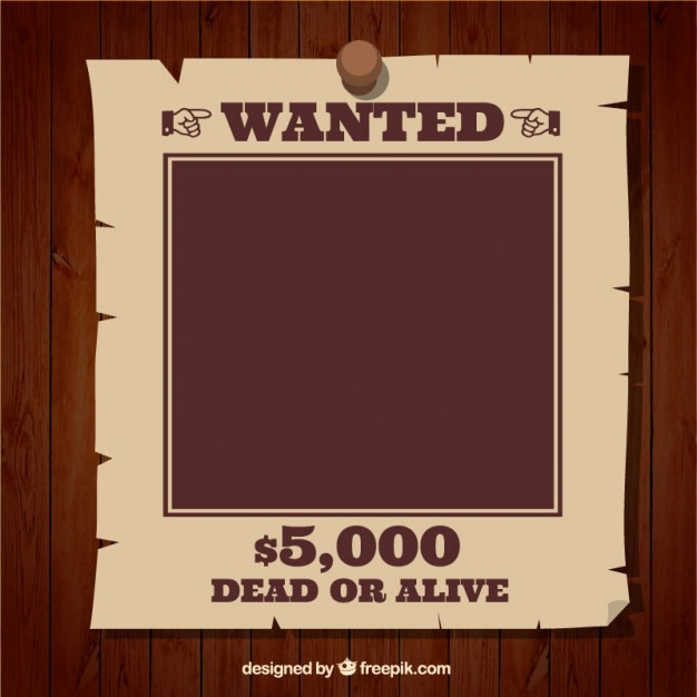 Wanted poster template Vector Free Download
