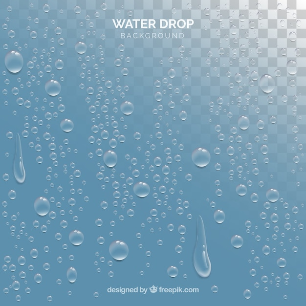 Water drops background in realistic style Vector Free Download - water droplets background