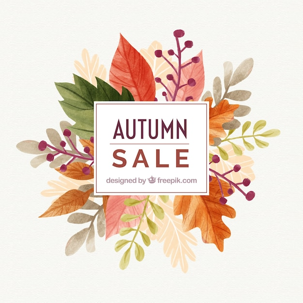 Fall Wooden Wallpaper Watercolor Autumn Sale Background Vector Free Download