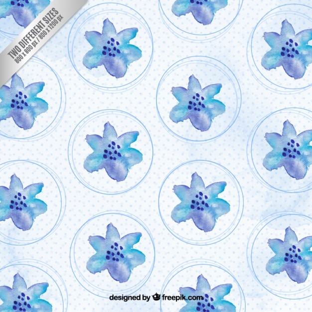 Watercolor blue flowers background Vector Free Download - blue flower backgrounds