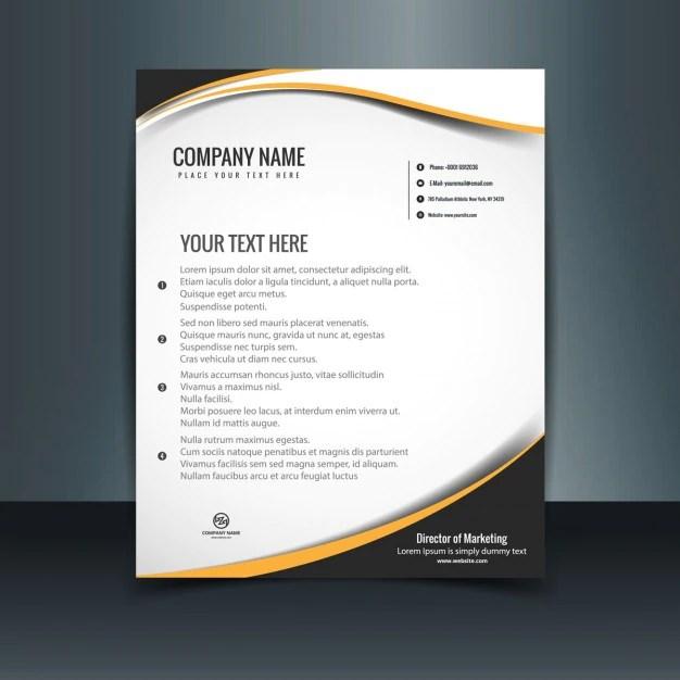 Wavy letterhead template Vector Free Download - letterheads templates free download