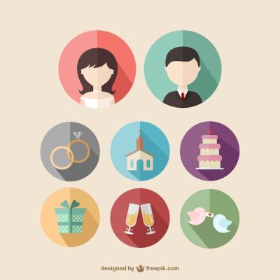 Wedding icons Vector | Free Download