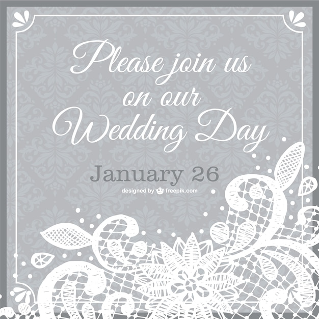 Wedding invitation lace template Vector Free Download - free downloadable wedding invitation templates