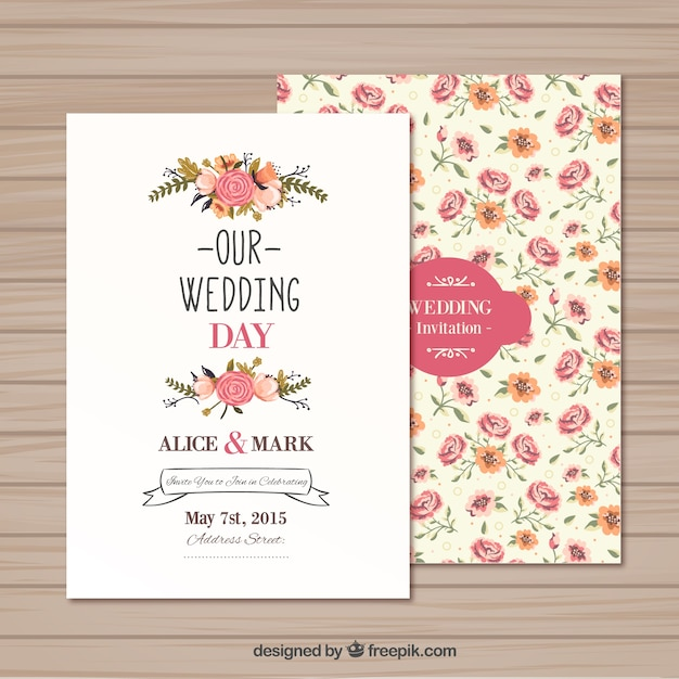 Wedding invitation template Vector Free Download - free download invitation templates