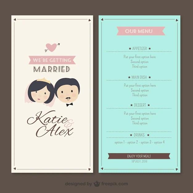 Wedding Menu Template Vector Premium Download - wedding menu template