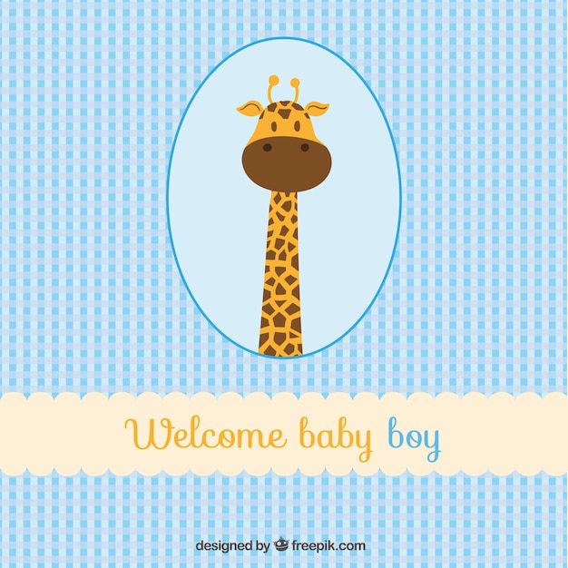 Welcome baby boy card Vector Free Download