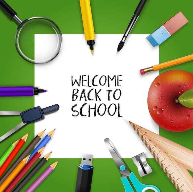 Welcome Back to school template Vector Premium Download - welcome back template