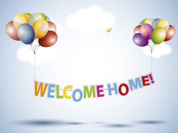 Welcome home background Vector Free Download