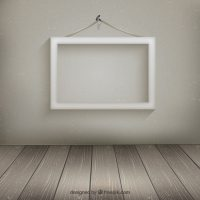 White frame hanging on the wall Vector | Free Download
