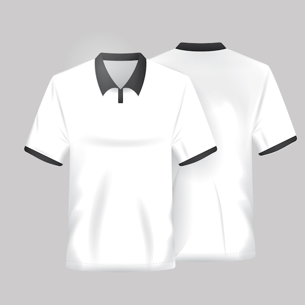 White shirt template Vector Free Download