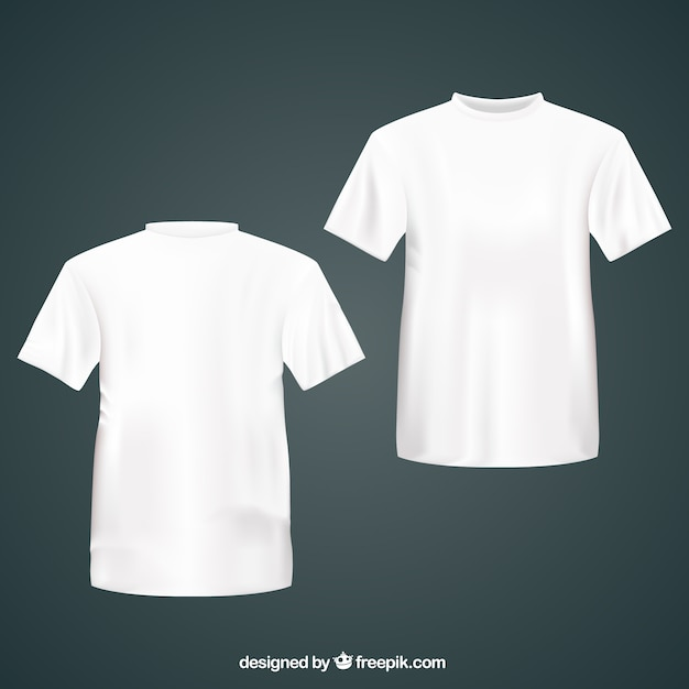 White t shirts Vector Free Download