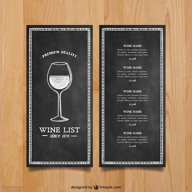 free wine list template download - Onwebioinnovate