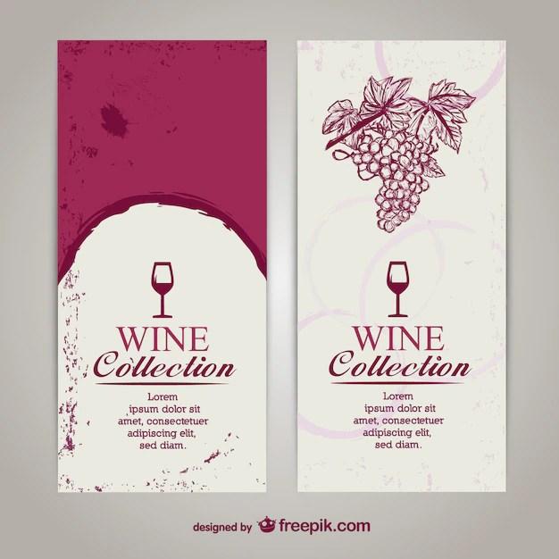 Wine menu list template Vector Free Download