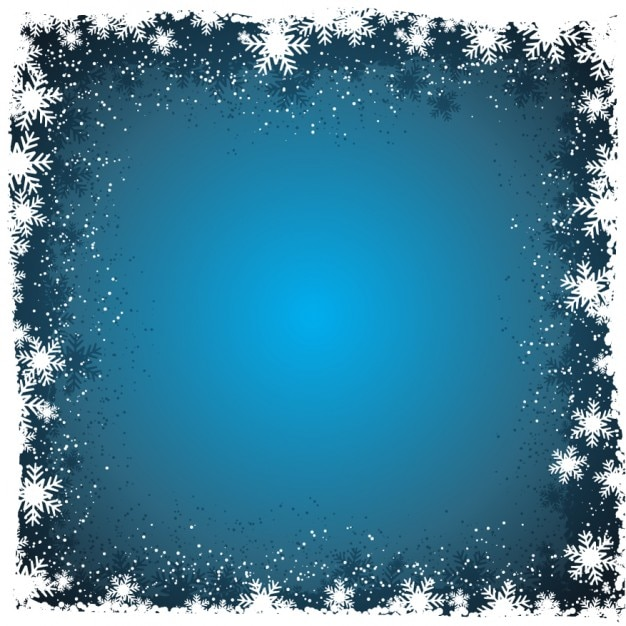 Winter background with snowflakes in borders Vector Free Download