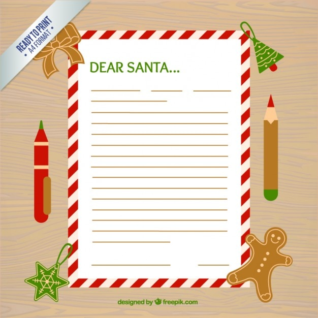 Wish list with a decorative border and christmas accessories Vector - free christmas wish list