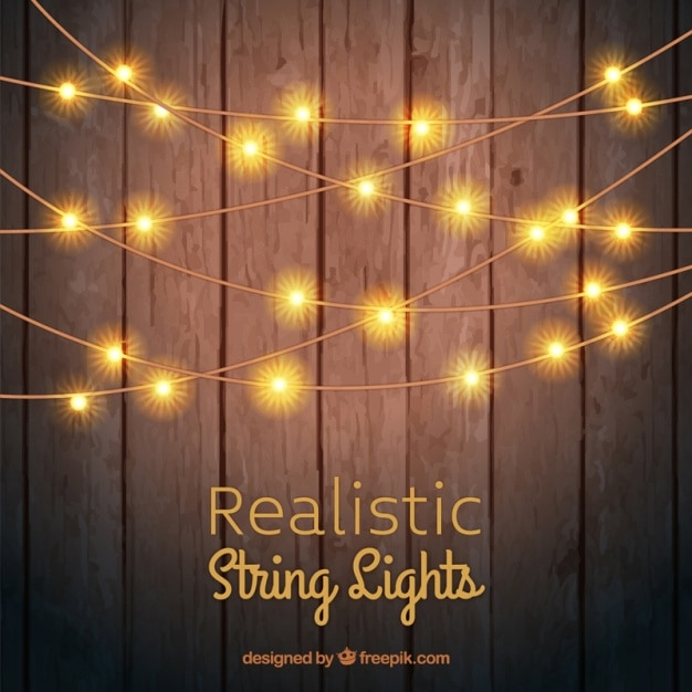 Fall Round Picnic Table Wallpaper Wooden Background With String Lights Vector Premium Download