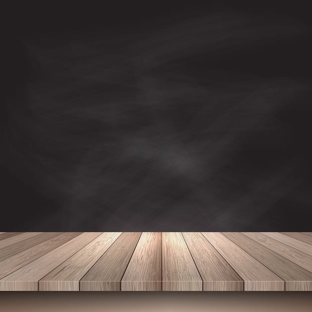 Wooden table on a black background Vector Free Download - composite background