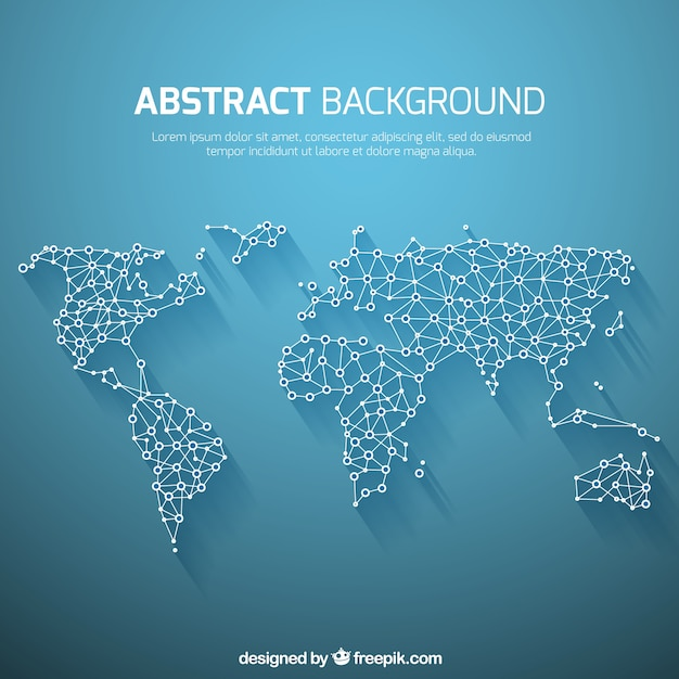 World map background in abstract style Vector Free Download