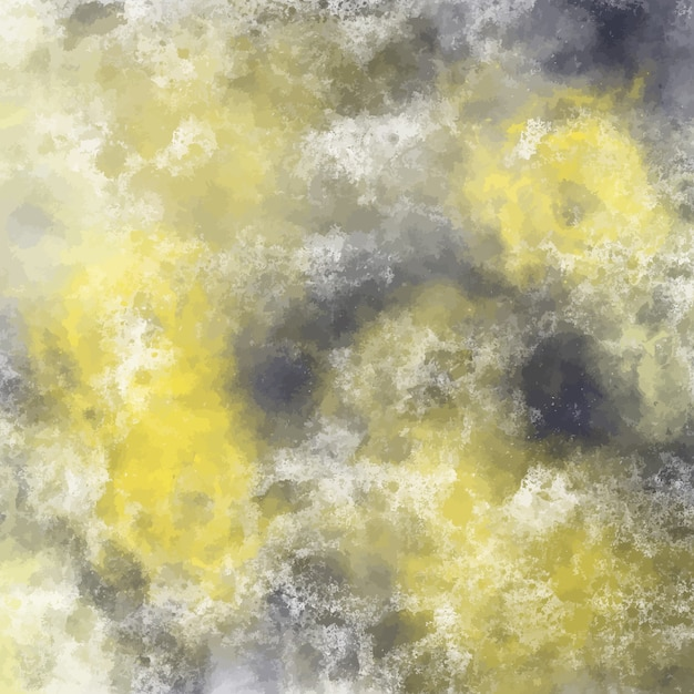 Yellow and black watercolor background design Vector Free Download