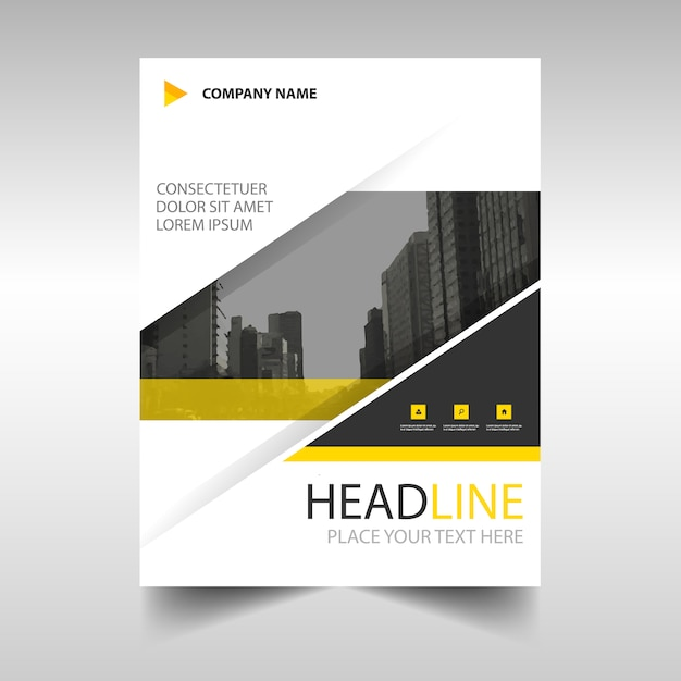 Yellow modern annual report template Vector Free Download - free annual report templates