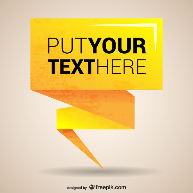 I Quit Wallpaper Hd Yellow Origami Banner Template Vector Free Download