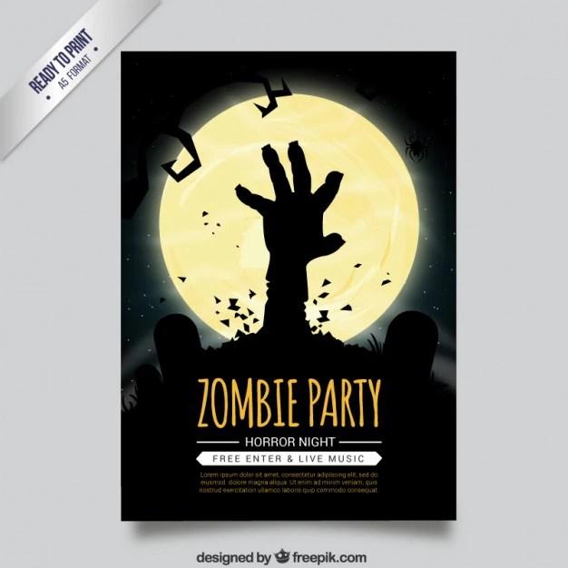 Zombie party flyer Vector Premium Download