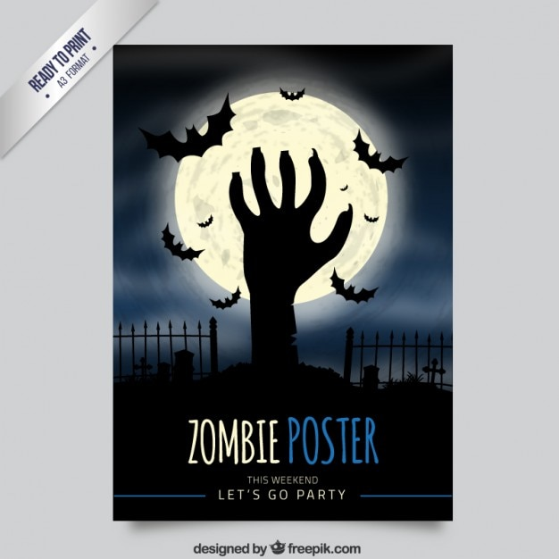 Zombie poster Vector Free Download