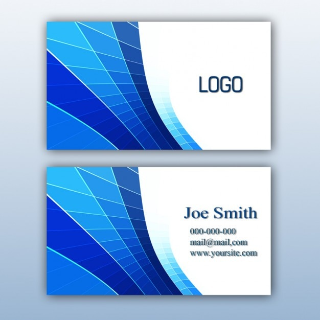 Diseño de tarjeta de visita azul Descargar PSD gratis - formatos para gafetes