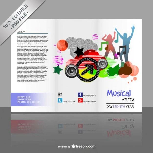 Plantilla de tríptico editable gratis Descargar PSD gratis