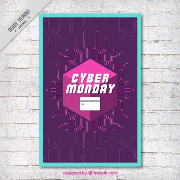 Cyber Lundi Brochure Moderne Avec Des Lignes Télécharger