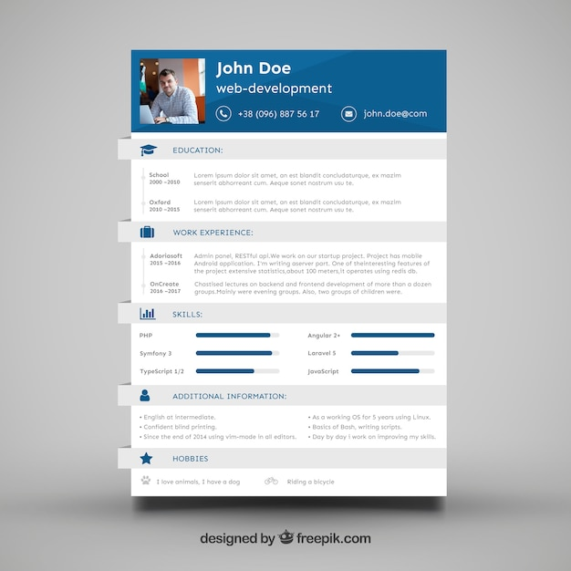 modele de cv developpeur web