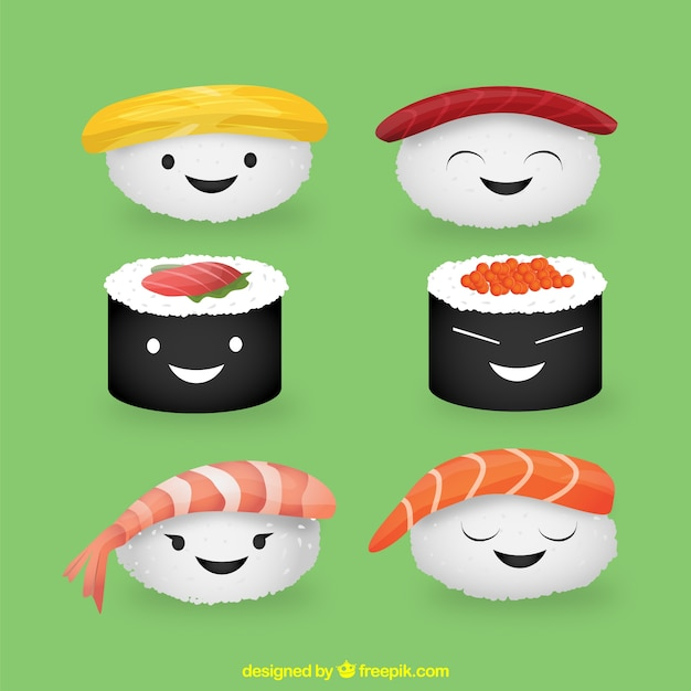 Cute Cartoon Sushi Wallpaper Sushi Mignon T 233 L 233 Charger Des Vecteurs Gratuitement