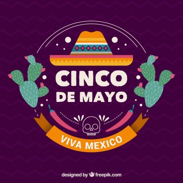Cute Dia De Los Muertos Wallpaper Bonito Fondo Del Cinco De Mayo Con Sombrero Mexicano Y