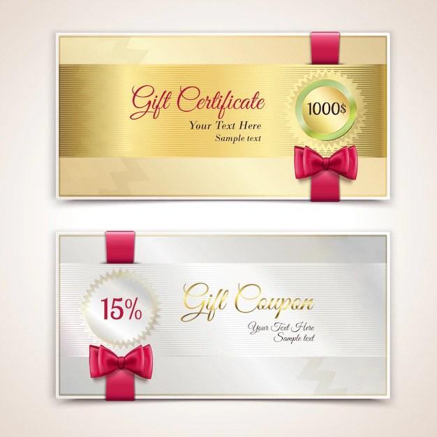 Certificados de regalo Descargar Vectores Premium
