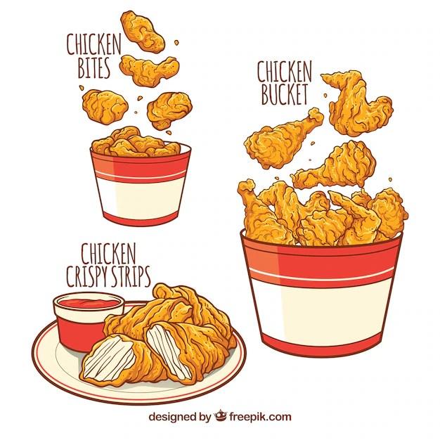 Cute Chicken Nugget Wallpaper Deliciosos Men 250 S De Pollo Frito Descargar Vectores Gratis